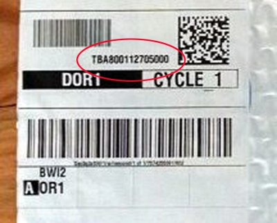 Tba tracking number