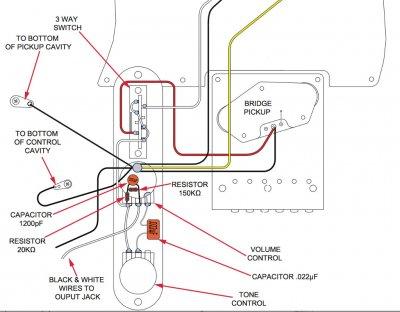 suhr guitar wiring diagram added fender treble bleed to bullet tele squier talk forum  added fender treble bleed to bullet tele squier talk forum