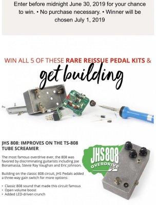 StewMac DIY Pedals Kit Giveaway Contest - Ends June 30, 2019