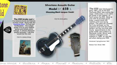 "Scored a Jet Black "" the Outlaw Guitar"" 
