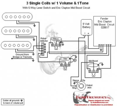 Fender Showmaster Wiring Diagram additionally Eric Clapton Wiring Diagram in addition Stacked Potentiometer Wiring Diagram besides Gibson 50s wiring on a Stratocaster additionally Tone Pot Capacitor Wiring Diagram. on fender tbx tone control wiring diagram
