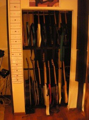Captivating Closet Guitar Rack