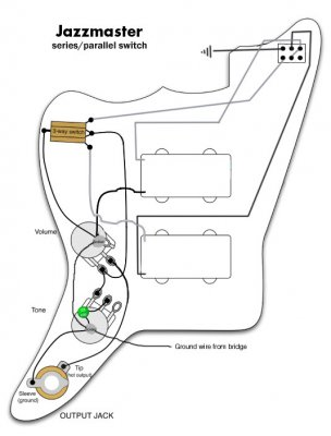 jaguar wiring diagram fender vm jaguar pickups in series wiring mod | squier-talk forum