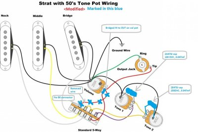 50s wiring strat 50s image wiring diagram question regarding wiring and bridging the in and out on the vol on 50s wiring strat