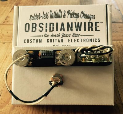 New Wiring Harness mounted on a Squier Standard Telecaster ...