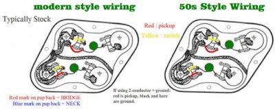 50's vs modern wiring | Squier-Talk Forum  S Wiring Telecaster on